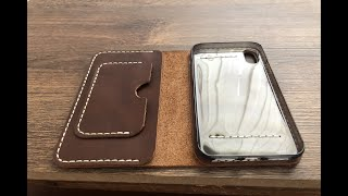 [Leathercraft] Making a Leather Iphone X XS case handmade/DIY