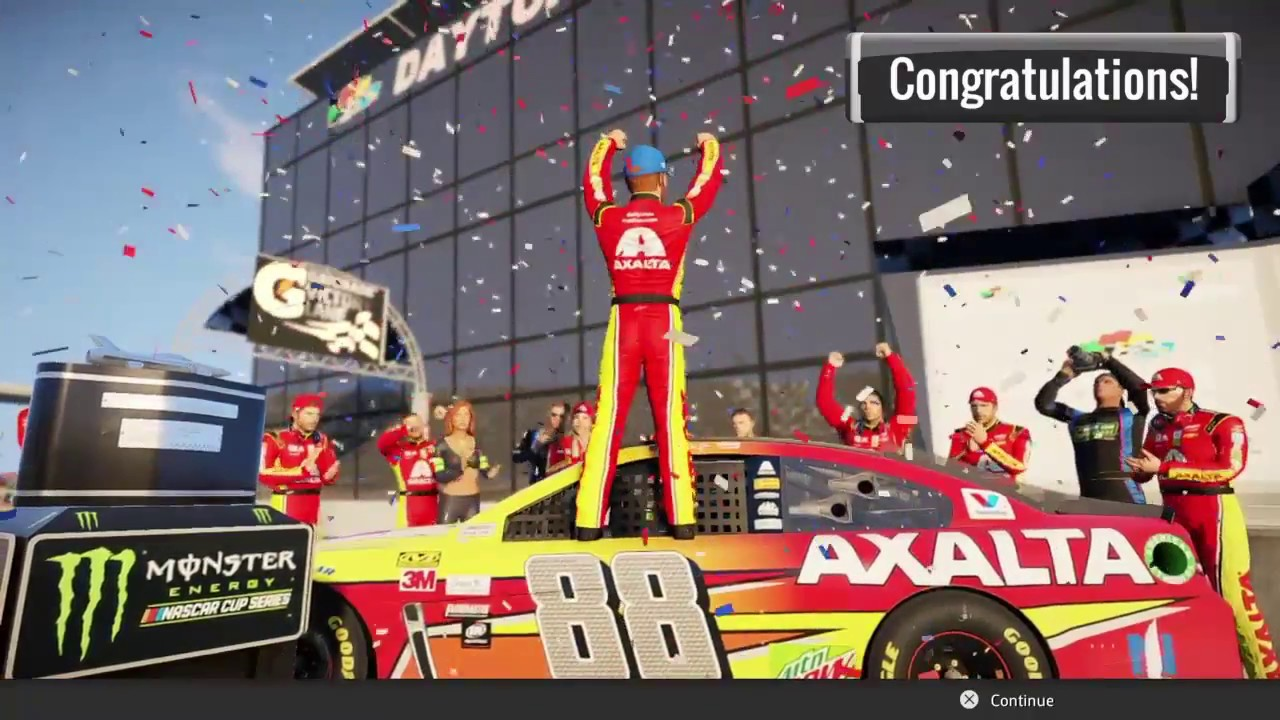 NASCAR HEAT 2- What Does The Victory Lane Celebration Look Like ...