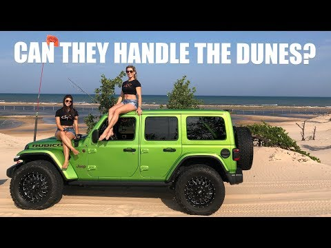 JEEP JL VS CHEVY COLORADO - Silver Lake Sand Dunes VLOG