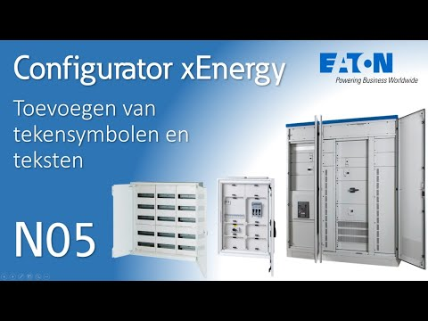 Eaton xEnergy Configurator - tekensymbolen en tekst (NL)