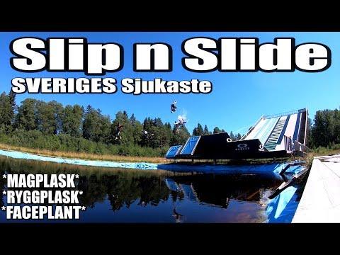 Sveriges Galnaste Slip n' Slide Utmaning *Sjuka Magplask*