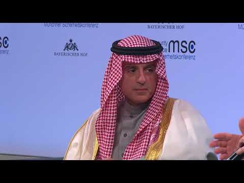 FM of Saudi Arabia Al Jubeir Addresses Munich Security Conference 2018 in Munich, Germany