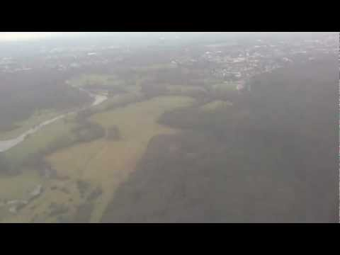 Landing and Taxi at Cologne Bonn Airport (CGN), Germany - 4th February, 2013
