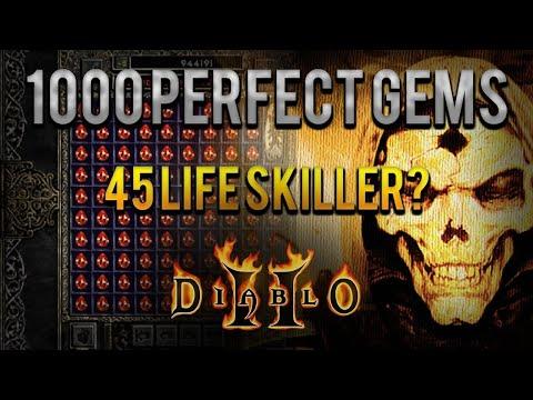 Diablo 2 - 1000 Perfect Gems VS Baal Grand Charms - 45 life skiller?