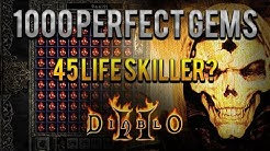 Diablo 2 - 1000 Perfect Gems VS Baal Grand Charms - 45 life skiller?