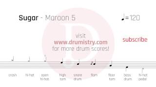 Maroon 5 Sugar Drum Score.mp3