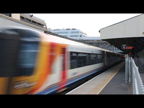 South West Trains Action at Wimbledon and Earlsfield