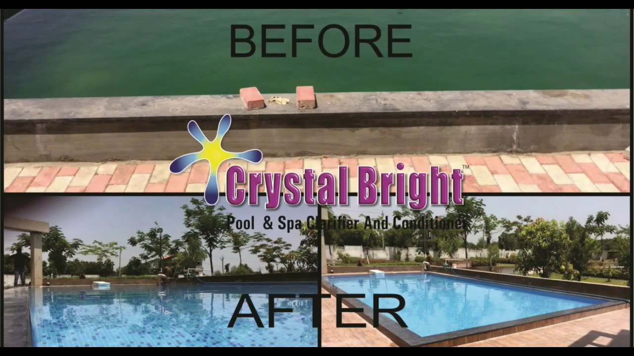 crystal Bright Swimming pool Clarifier & Conditioner India Swimming pool  kese clean kare