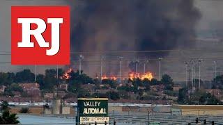 Brush fire burns 10-12 acres of wetlands park near Sam Boyd Stadium