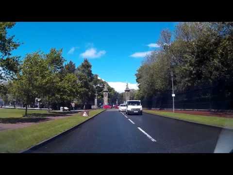 Driving To Scottish Parliament Building Edinburgh Scotland