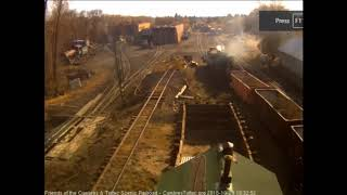 10/29/2018 The 487 returns to Chama, NM with its ballast train