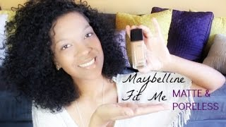 *NEW* Maybelline Matte & Poreless Fit Me Review + Demo Thumbnail