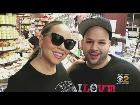 Tony Sandoval on The Breeze - Mariah Carey walks around town and meets fans after her Car Breaks Down