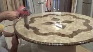 Marble Table Top High Gloss