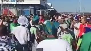 Super Eagles fans dancing, jubilating in Russia