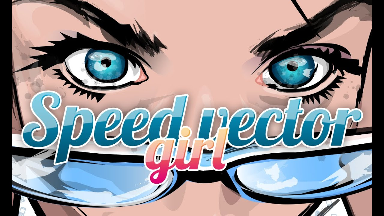 Speedpaint vector girl disegno vettoriale effetto