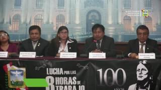 LANZAMIENTO NACIONAL DEL PROGRAMA POR EL CENTENARIO DE INMOLACIÓN DE LA LUCHA DE LAS 8 HORAS