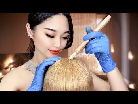 [ASMR] Relaxing Hair Dye Treatment