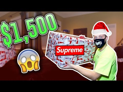 Unboxing a $1500 Hypebeast Mystery Box! (Christmas Edition) *Supreme & More*
