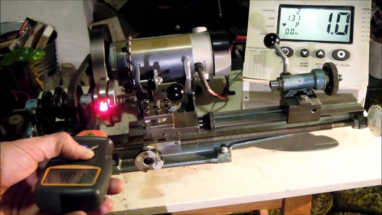 Speed check variable speed lathe treadmill motor youtube for How to make a variable speed motor