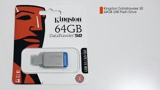 Kingston DataTraveler 50 DT50 Review and speed test