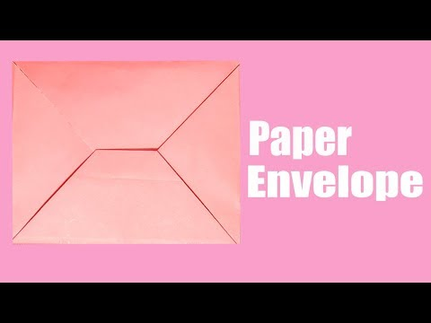 How To Make Origami Diy Paper Envelope Without Glue|Envelope Making With Colour Paper At Home 2019