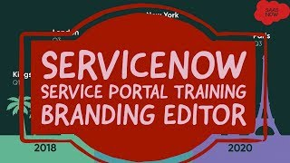 #2 ServiceNow Service Portal Training | Branding Editor