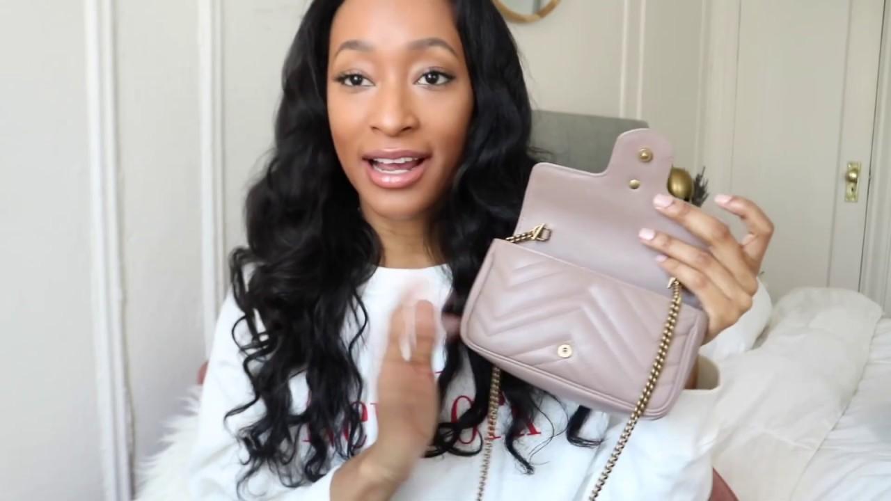 Gucci GG Marmont Matelassé Leather Super Mini Bag Review - YouTube 4a3ca1a09bc8b
