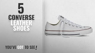Top 5 Converse Leather Shoes [2018]: Converse Unisex Chuck Taylor Leather White Sneaker - 6 Men - 8
