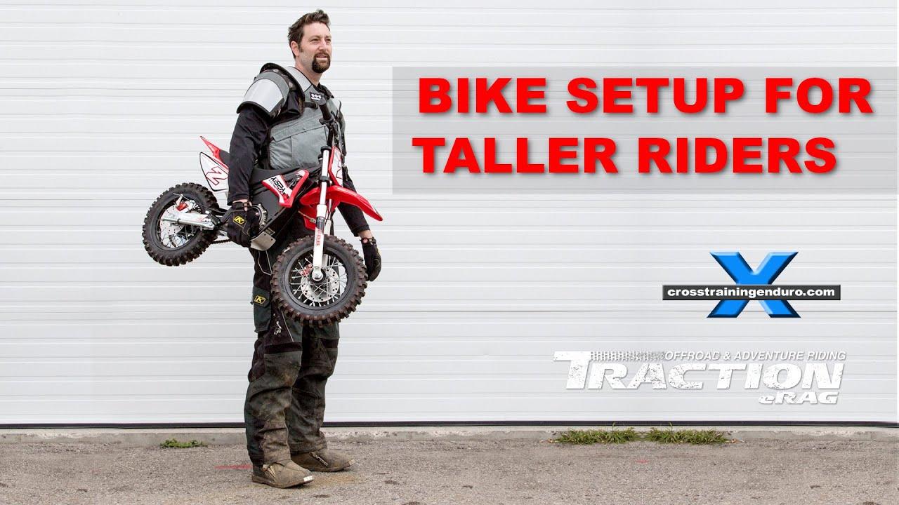 Tall Rider Bike Setup Cross Training Enduro Skills Youtube