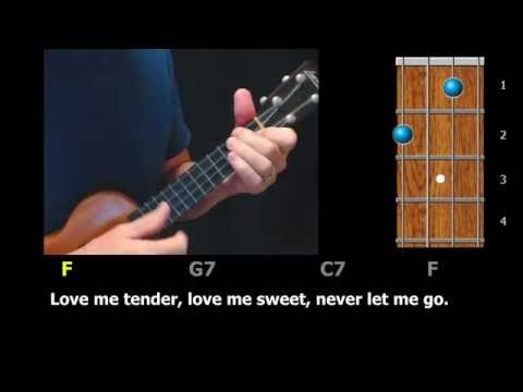 Love Me Tender - Ukulele Strum-Along with Chords and Lyrics