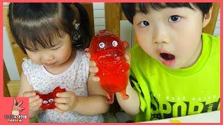 아이스크림 코코몽 악어 게 모양 젤리 만들기 놀이 ♡ 뽀로로 장난감 친구들 젤리 색깔 놀이 함께 해요 Jelly Shape For Kids | 말이야와아이들 MariAndKids