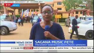 President Uhuru hosts music festival winners in Sagana