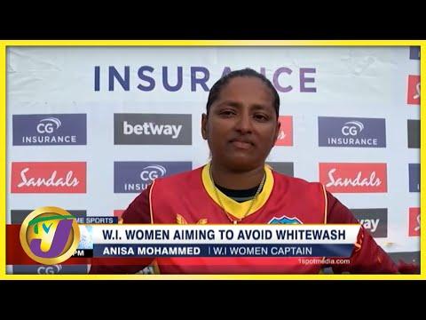 W.I Women Aiming to Avoid Whitewash - Sept 15 2021