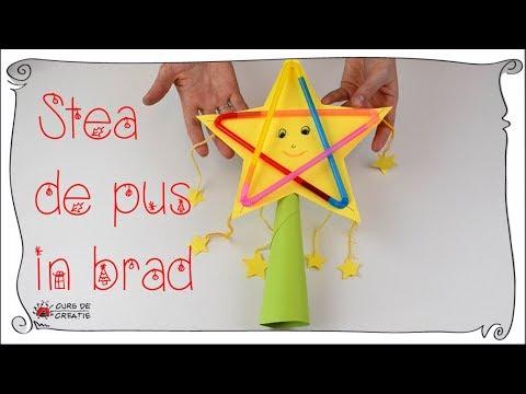 Cum sa faci o stea de pus in brad ⭐🌟✨ How to make a star for Christmas tree