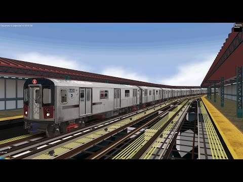 OpenBVE: R142 (2) Train from Flatbush Avenue to Wakefield 241st Street