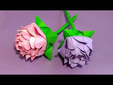 Origami rose (modular).🌹Easy paper rose! 🌹Ideas for party decoration.