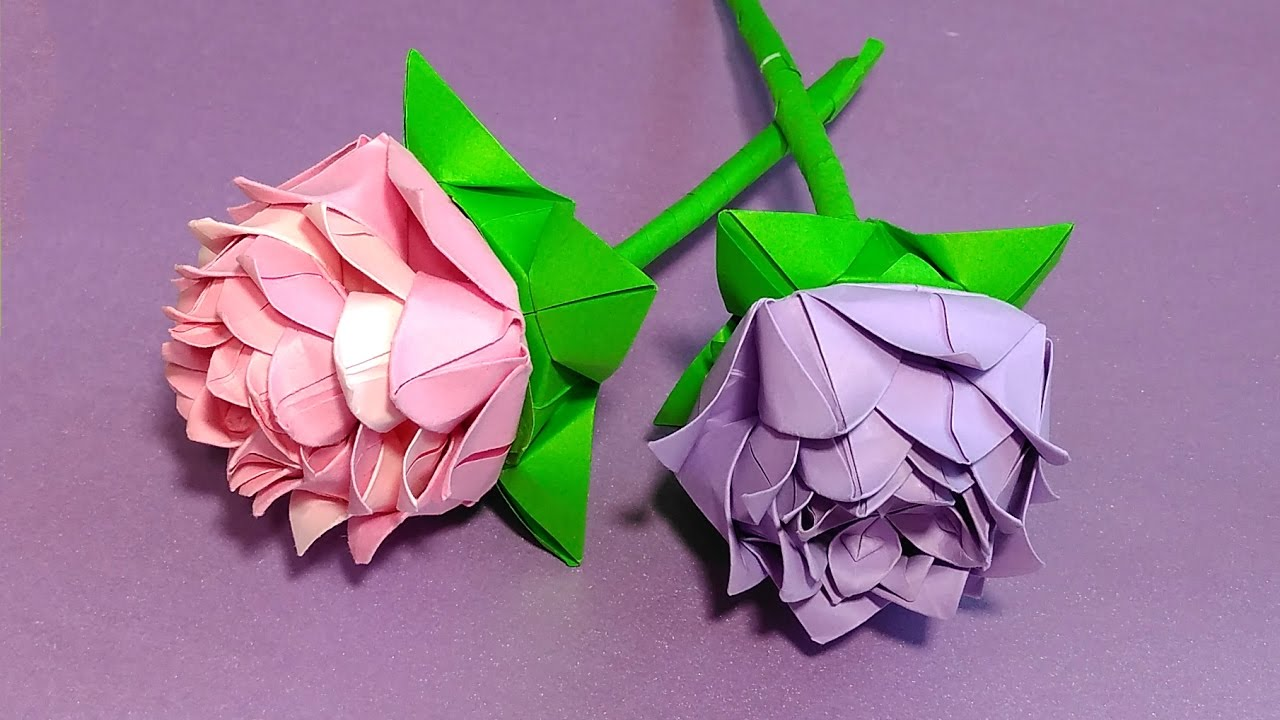 Origami Rose Modulareasy Paper Rose Ideas For Party
