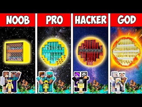 Minecraft NOOB vs PRO vs HACKER vs GOD : FAMILY BLOCK SUN PRISON in Minecraft | Animation