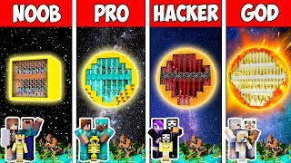 Minecraft Noob Vs Pro Vs Hacker Vs God  Family Block Sun Prison In Minecraft  Animation
