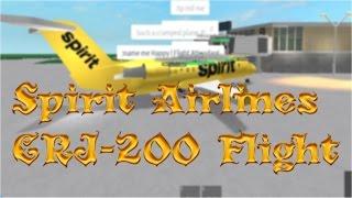 Roblox - Spirit Airlines CRJ 200 Flight