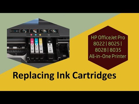 HP OfficeJet 8022 | 8025 | 8028 | 8035 Printer : Replace the Ink Cartridges