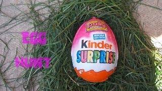 TOYS in Easter Kinder Egg Hunt - Kids Fun