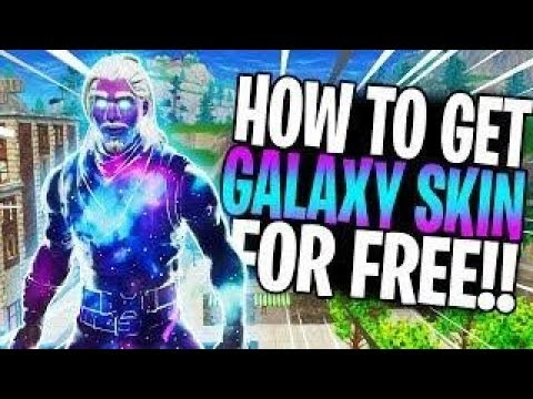 how to get the galaxy skin for free irl galaxyskinfortnite - youtube