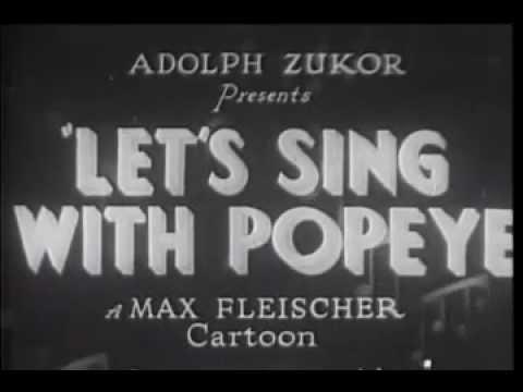 Popeye Song ! - Let's sing with Popeye (karaoke)
