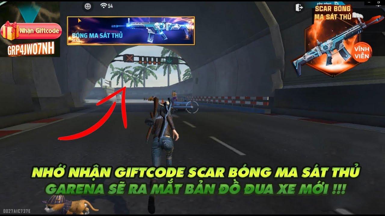 Garena Free Fire| Gift code Scar bóng ma sát thủ -  Map đua xe của Garena