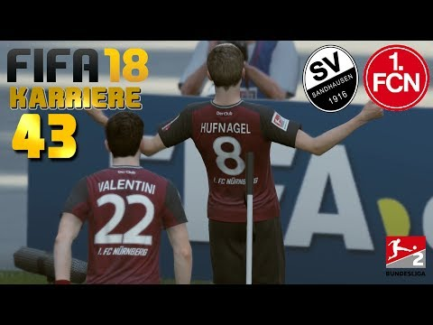 FIFA 18 KARRIERE [#43] ★ SV Sandhausen vs. 1. FC Nürnberg, 33. Spieltag   Let's Play FIFA 18