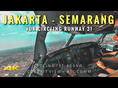 FLIGHT AFTER ALMOST 2 MONTHS OFF // JAKARTA - SEMARANG // COCKPIT VIEW // BOEING 737 800NG