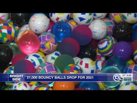 News coverage of the 2020 Bouncy Ball Drop at Imagination Station
