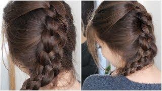 Four Strand Braid Your Own Hair | Tutorial